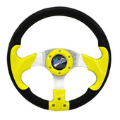 "Madjax Razor Yellow 13"" Golf Cart Steering Wheel"