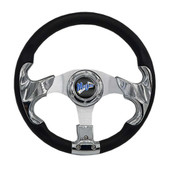 "Madjax Razor Chrome 13"" Golf Cart Steering Wheel"