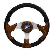 "Madjax Razor Woodgrain 13"" Golf Cart Steering Wheel"