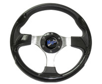 "Madjax Ultra II Black 13"" Golf Cart Steering Wheel"