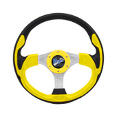 "Madjax Ultra II Yellow 13"" Golf Cart Steering Wheel"