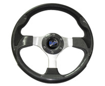 "Madjax Ultra II Carbon 13"" Golf Cart Steering Wheel"