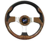 "Madjax Ultra II Woodgrain 13"" Golf Cart Steering Wheel"