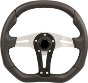 "Grant 3-Spoke with Ultra Suede 13.75"" x 11.75"" Golf Cart Steering Wheel"