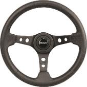 "Grant 3-Spoke Black with Carbon Fiber 13.75"" Golf Cart Steering Wheel"