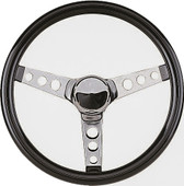 "Grant 3-Spoke Chrome 13.5"" Golf Cart Steering Wheel"