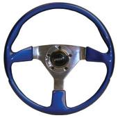 Grant Signature Fibertech High Gloss Blue Golf Cart Steering Wheel