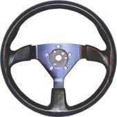 Grant Formula 1 3-Spoke Black W/ Anodized Spokes Golf Cart Steering Wheel