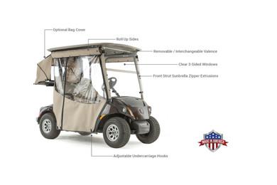Touring Golf Cart Enclosure for Yamaha G29 Drive 2 Golf Cart on