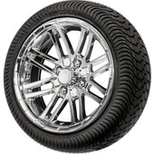 "14"" Talon Chrome  - LowPro Street Tire and Wheels Combo"
