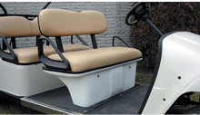 EZGO Tan Seat Pod Assembly for Stretched Golf Cart