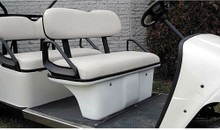 EZGO White Seat Pod Assembly for Stretched Golf Cart