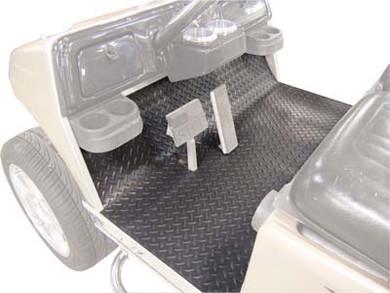 club car precedent diamond plate grey rubber floor mat | golf cart