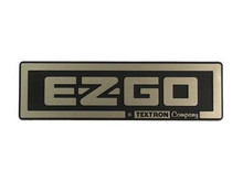 EZGO 2008-Up TXT Gold/Black Name Plate