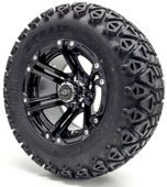 "Madjax 12"" Nitro Black Wheels with Lifted Tire Options Combo"