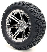 "Madjax 14"" Nitro Chrome Wheels with Lifted Tire Options Combo"