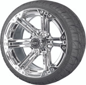 Madjax 14'' Chrome Nitro Wheels with Street Low Profile Tire Options Combo
