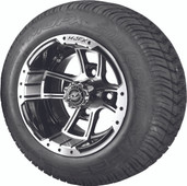 "Madjax 10"" Apex Machined Black Wheels and Viper Street Low Profile Tire Combo"