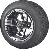 "Madjax 10"" Apex Machined Black Wheels and Viper Street Low Profile Tire Combo"