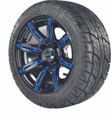 "Madjax 12"" Illusion Wheels with Street Low Profile Tire Options Combo (Choose the Color Insert)"