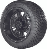 "Madjax 12"" Transformer Matte Black Wheels with Street Low Profile Tire Options Combo"