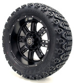 "Madjax 14"" Transformer Matte Black Wheels with Lifted Tire Options Combo"