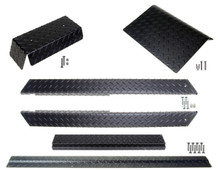 Club Car DS (Black) Diamond Plate Accessory Kit w/ Full Rockers 82-up