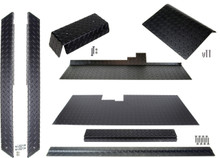 Club Car DS (Black) Diamond Plate Accessory Kit w/ Floor