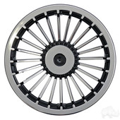 "8"" RHOX Silver Turbine Style Silver Cart Wheel Cover"