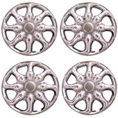 "8""  Ninja Style Chrome Golf Cart Wheel Covers - Set of 4"
