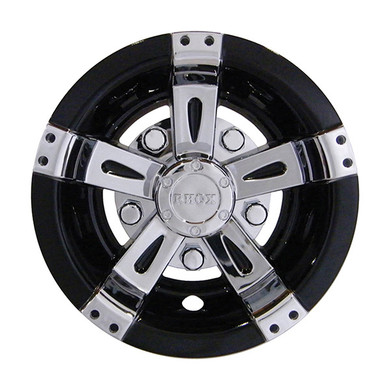 8 Rhox Wheel Covers Chrome And Black Vegas Style Golf Cart King