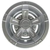 "8"" RHOX Silver Vegas Style Golf Cart Wheel Cover"
