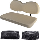 Club Car Precedent Replacement Front Seat - Black Cushions