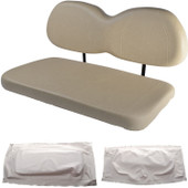 Club Car Precedent Replacement Front Seat - White Cushions