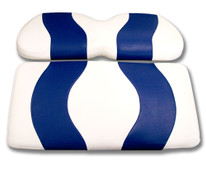 Madjax Wave White and Blue Front Seat Cover - Cart Model Specific