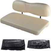 Club Car DS 2000.5 and Newer Replacement Front Seat - Black Cushions