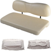 Club Car DS 2000.99 and Newer Replacement Front Seat - White Cushions