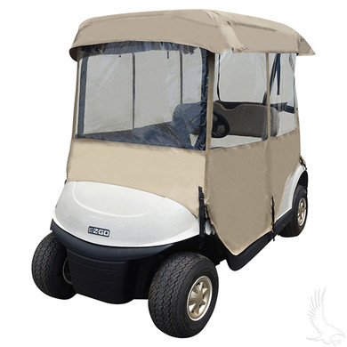 Enclosure universal deluxe 4 sided golf cart king for Golf cart garage door prices