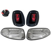 EZGO RXV LED Headlight and Tail Light Kit - Frosted Lens