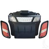 EZGO RXV LED Headlight and Tail Light Light Bar Bumper Kit