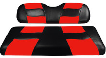 Madjax Riptide Two-Tone Black/Red Front Seat Cover - Cart Model Specific