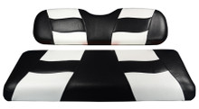 Madjax Riptide Two-Tone Black/White Front Seat Cover - Cart Model Specific