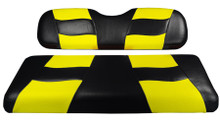 Madjax Riptide Two-Tone Black/Yellow Front Seat Cover - Cart Model Specific