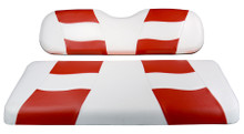 Madjax Riptide Two-Tone White/Red Front Seat Cover - Cart Model Specific