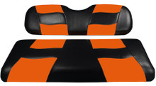 Madjax Riptide Two-Tone Black/Orange Front Seat Cover - Cart Model Specific