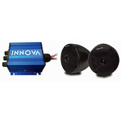 Innova 2 Cone Speakers and 2-Channel Mini-Amp with Bluetooth - Universal Fit