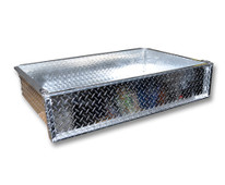 Madjax Aluminum Diamond Plate Cargo Box Golf Cart - Choose Model Specific Bracket