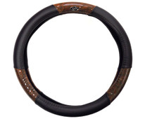 Madjax Woodgrain and Black Golf Cart Steering Wheel Cover