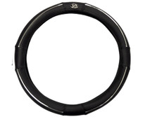 Madjax Black and Chrome Golf Cart Steering Wheel Cover