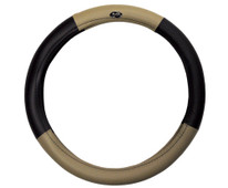 Madjax Black and Tan Golf Cart Steering Wheel Cover